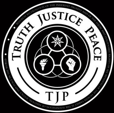 Ken O'Keefe Truth Justice Peace Logo
