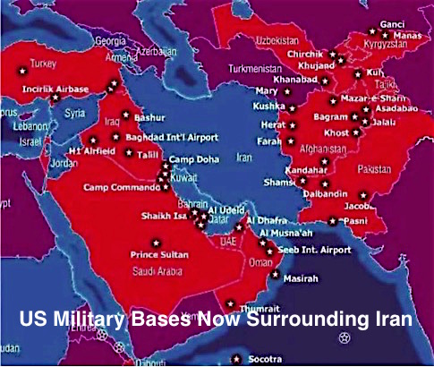 US Military Bases Now Surrounding Iran