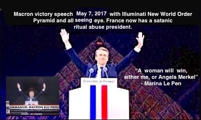 Macron victory speech Illuminati Pyramid and All Seeing Eye